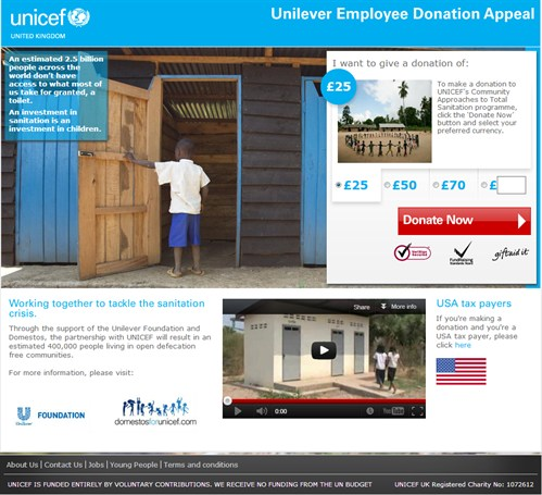 Unicef Uk - Donate - Corporate Appeal - Cropped _499x 455